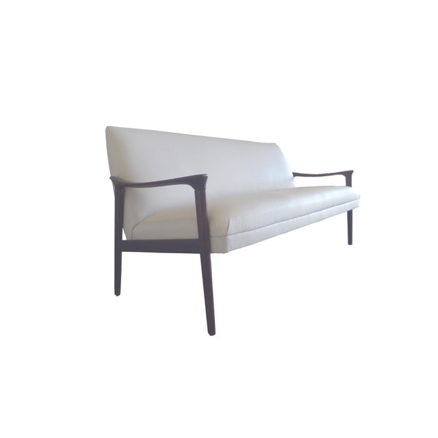 Vintage Ole Wanscher Danish White Sofa - Image 2 of 6