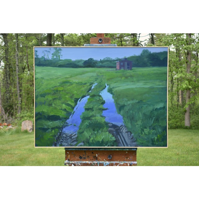 """Contemporary """"Ruts in the Field to the Chicken Coop"""" Painting For Sale - Image 3 of 12"""