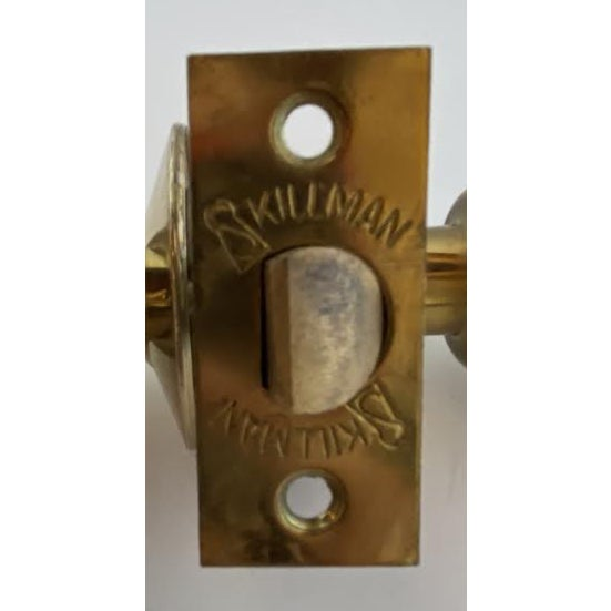1960s 1960s Mid-Century Modern Polished Brass Skillman Privacy Doorset For Sale - Image 5 of 7