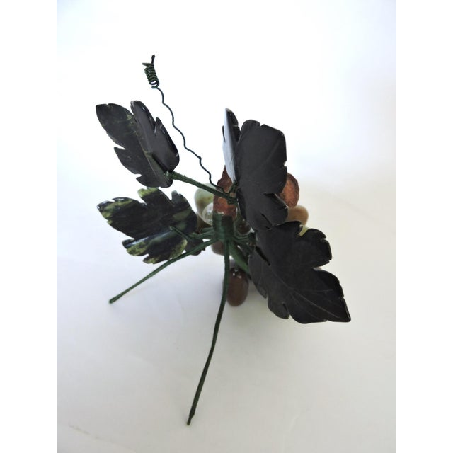 "Italian Decorative Polished Onyx Italian Ornamental Grapes on the Vine W9"" For Sale - Image 3 of 4"