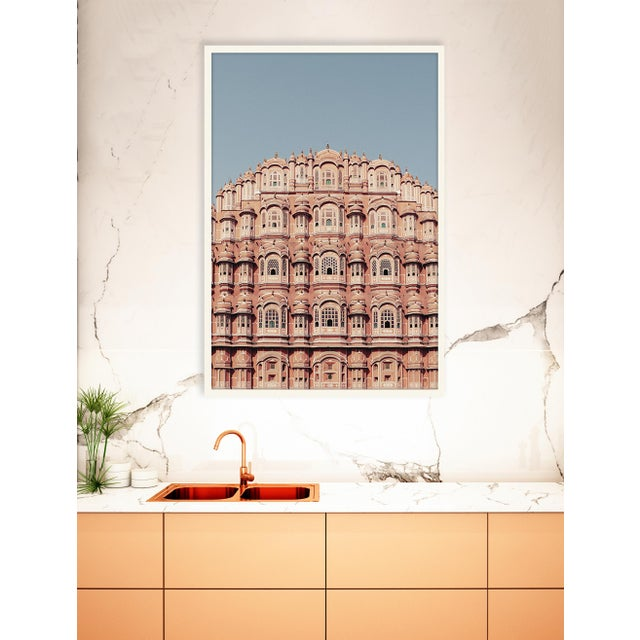 DESCRIPTION: Coral Dream by Trunk Archive, Framed Art Print Frame: White Matte This pink building, in the pink city of...