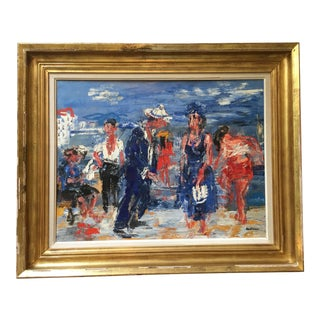 1950s Vintage Paul Maas 'Pommes a Cannes' Oil on Canvas Painting For Sale