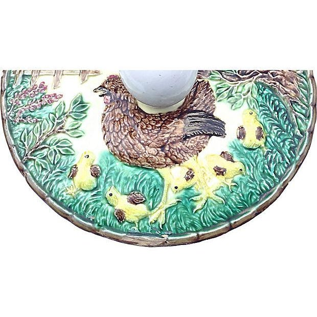 Ceramic Antique Majolica French Green Tureen For Sale - Image 7 of 11