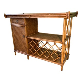 Bamboo and Rattan Dry Bar For Sale