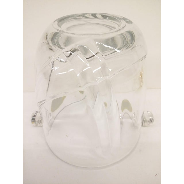 Gold Vintage Italian Murano Glass Gold Plate Ice Bucket & Tongs For Sale - Image 8 of 8