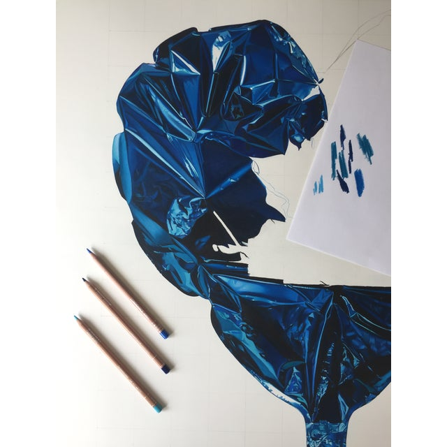 "Contemporary ""Big Blue"" Drawing Large Limited Edition Print by Jack Verhaeg For Sale - Image 3 of 5"