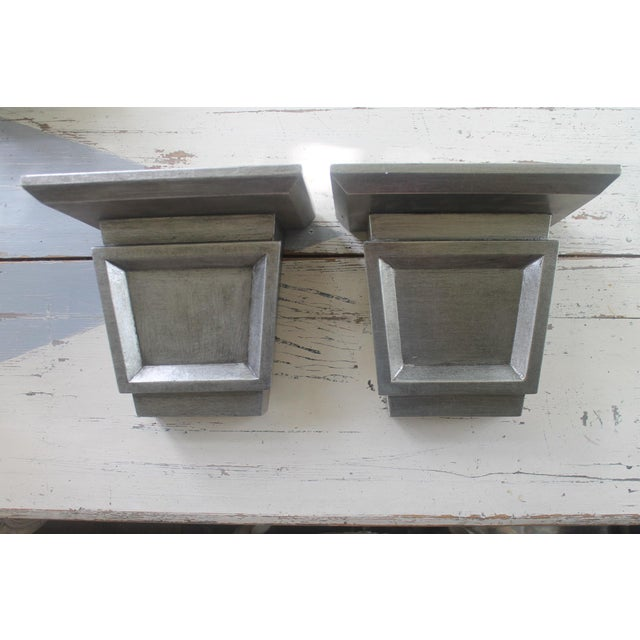 Asian Modern Port 68 Jonathan Silver Leaf Wall Brackets - a Pair For Sale - Image 11 of 11