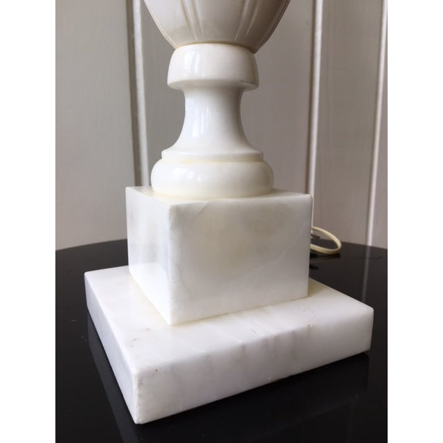 Vintage Alabaster Marble Lamp For Sale In Raleigh - Image 6 of 10