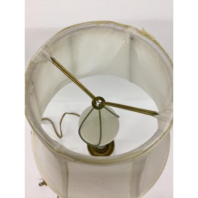 Brass Vintage Candelabra Vanity Lamp With Shade For Sale - Image 7 of 12