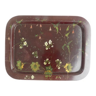Vintage Early 19th Century English Paper Mache Tray For Sale