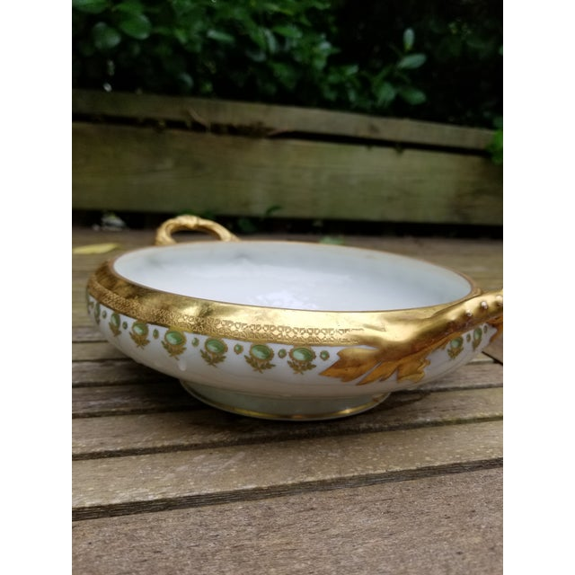 Add this graceful Limoges serving bowl to your dinner table during the holidays. The gold glimmers in candle light. It...