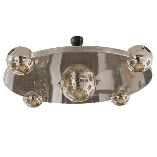 Metal Ufo Ceiling Light by Yonel Lebovici, Circa 1975 For Sale - Image 7 of 7
