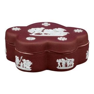 Wedgwood Crimson Jasper Dip Box For Sale