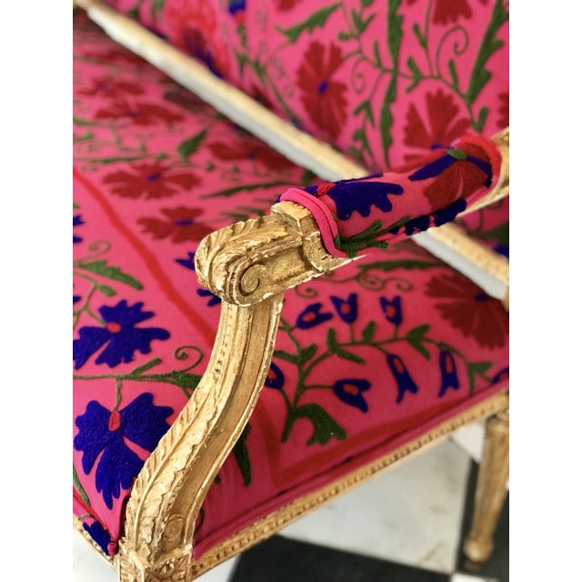 French Boho Settee For Sale - Image 4 of 13