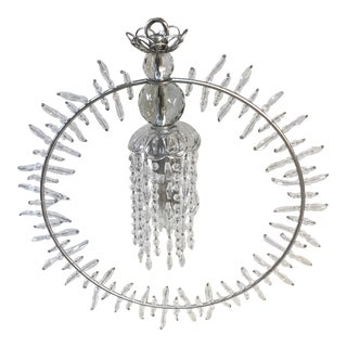 Crystorama Grace 1-Light Mini Chandelier in Silver Leaf For Sale