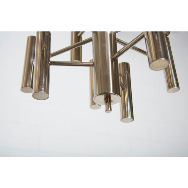 Multi Armed Sciolari Style Chandelier For Sale - Image 9 of 10