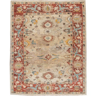 """Sultanabad Persian Rug - 8'1"""" x 10'2"""" For Sale"""