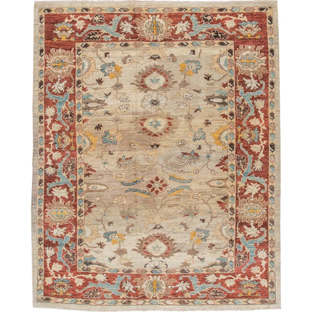 "Sultanabad Persian Rug - 8'1"" x 10'2"" For Sale"