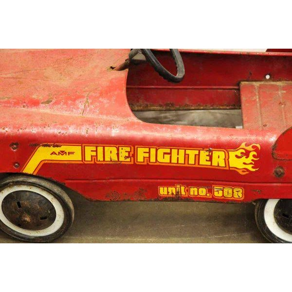 Vintage Child's Red Fire Engine For Sale - Image 5 of 9