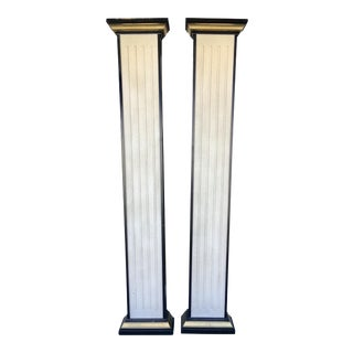 Vintage Wooden & Resin Columns- a Pair