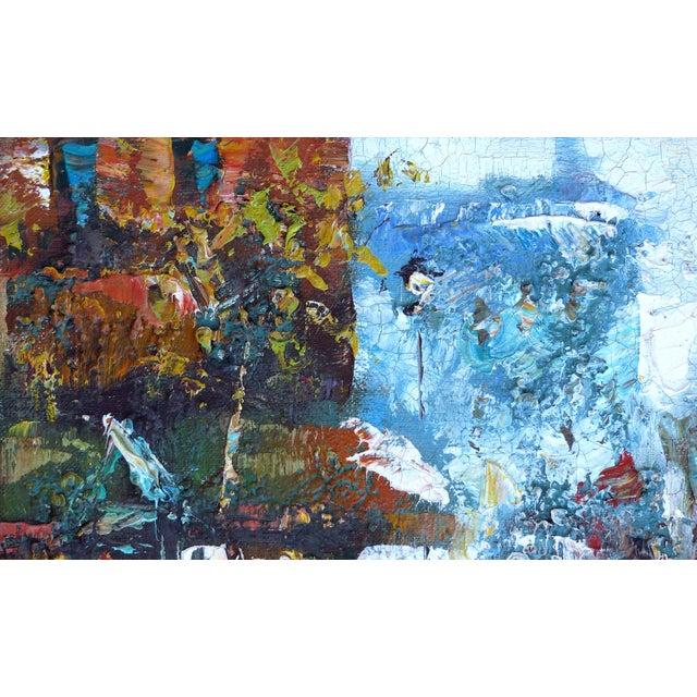 Midcentury Modern Paris Street Scene Oil Paintings- a Pair For Sale - Image 11 of 13