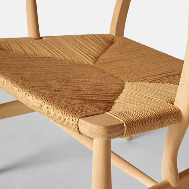 Hans Wegner Lounge Chair Model #Ch-22 For Sale In San Francisco - Image 6 of 7