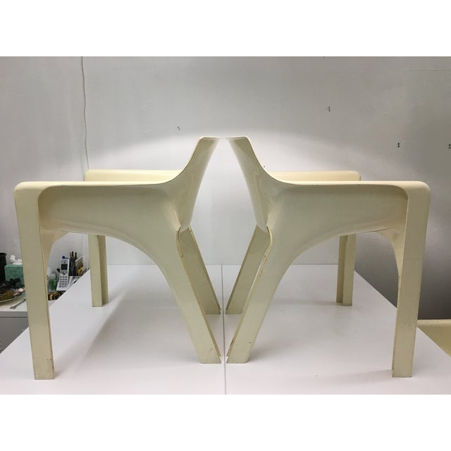 1970s Mid-Century Modern Gaudi Chairs by Vico Magistretti for Artemide - Set of 4 For Sale - Image 5 of 13
