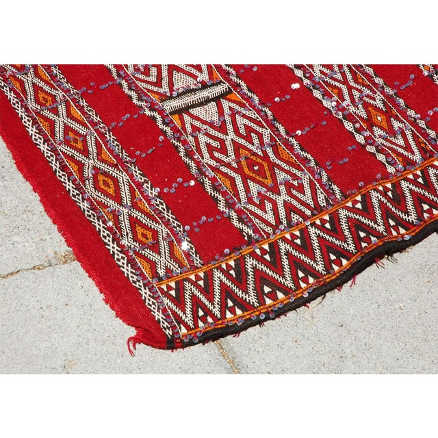 Moroccan Tribal Wedding Rug With Sequins North Africa For Sale - Image 4 of 9