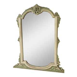 Mirror With Ornate Frame and Smoked Glass For Sale