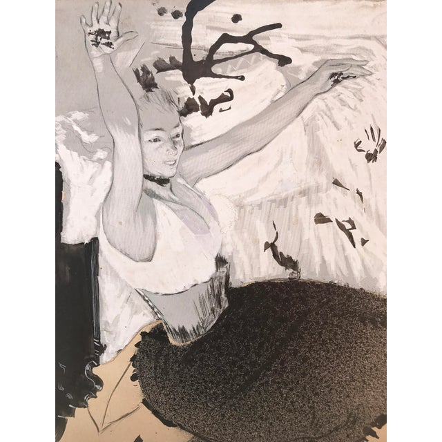 Gouache of French Art Nouveau Dancer by Louis Legrand For Sale - Image 4 of 7