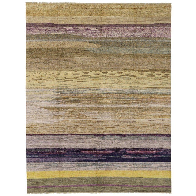 Contemporary Moroccan Style Rug with Modern Design For Sale In Dallas - Image 6 of 8
