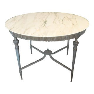 Vintage Neoclassical Bronze and Marble Center Table For Sale