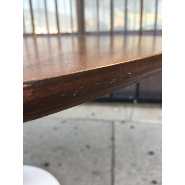 Mid Century Modern Custom Walnut Tulip Table For Sale - Image 12 of 13