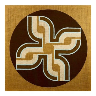 1960s Original Mid Century Modern Textile Artwork by Verner Panton For Sale