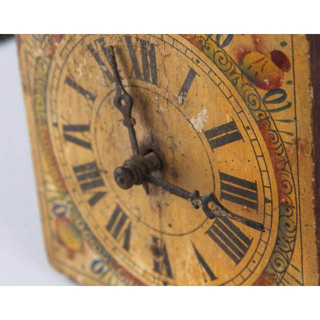French Foret Noire Clock Painted Face, 19th Century For Sale In Austin - Image 6 of 13