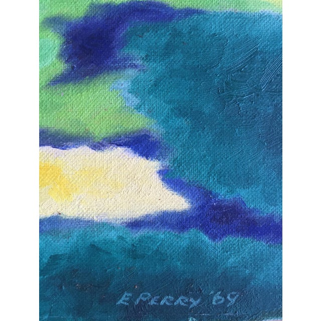 Eleanor Perry 1969 Abstract Landscape Painting - Image 6 of 6