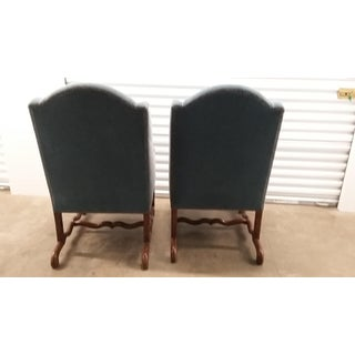 Vintage Os De Mouton Chairs Upholstered in Blue Sapphire Mohair - a Pair Preview