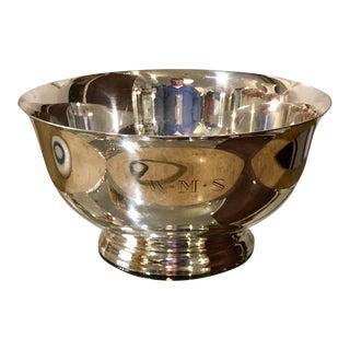 Antique Paul Revere Exemplar Sterling Silver Serving Bowl For Sale