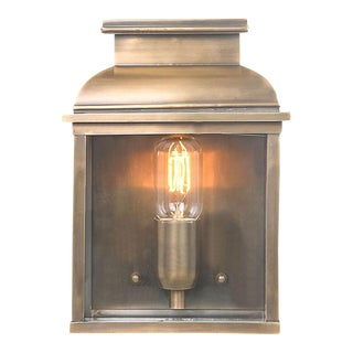 Old Bailey Brass Wall Lantern For Sale