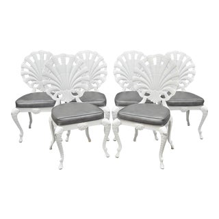 Tropitone Fan Shell Back Grotto Dining Chairs - Set of 6