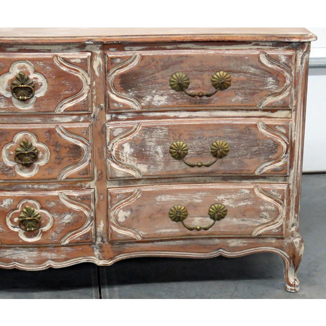 Auffray Country French Distressed Painted Dresser For Sale - Image 4 of 12