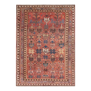 """Antique Persian Afshar Rug 3'9"""" X5'0"""" For Sale"""