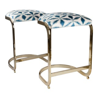 Milo Baughman Counter Stools - a Pair For Sale