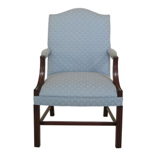 Chippendale Style Open Armchair For Sale
