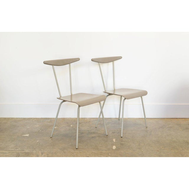 1950s Pair of Light Gray Dressboy Chairs, Wim Reitveld 1950's For Sale - Image 5 of 5