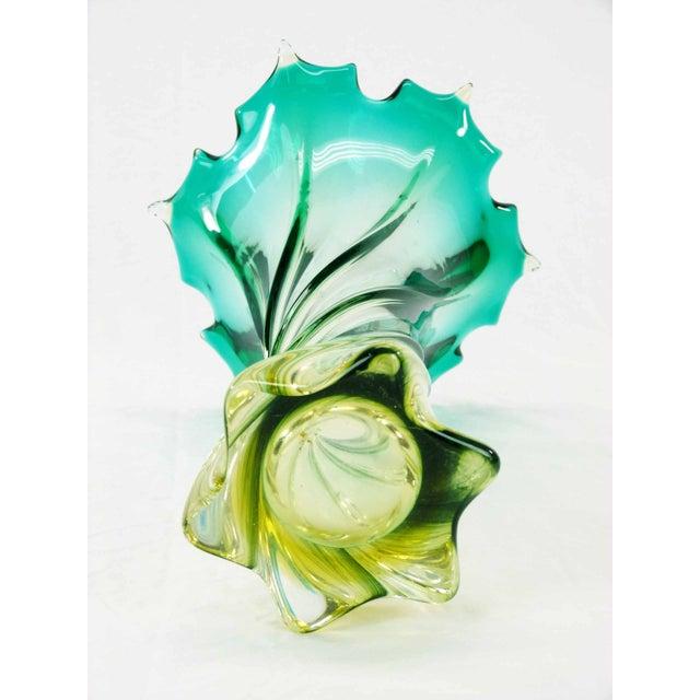 Murano Twisted Starbusrt Glass Vase - Image 5 of 5