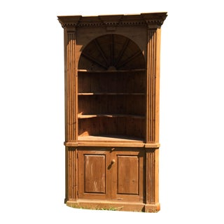 English Pine Wood Cabinet For Sale