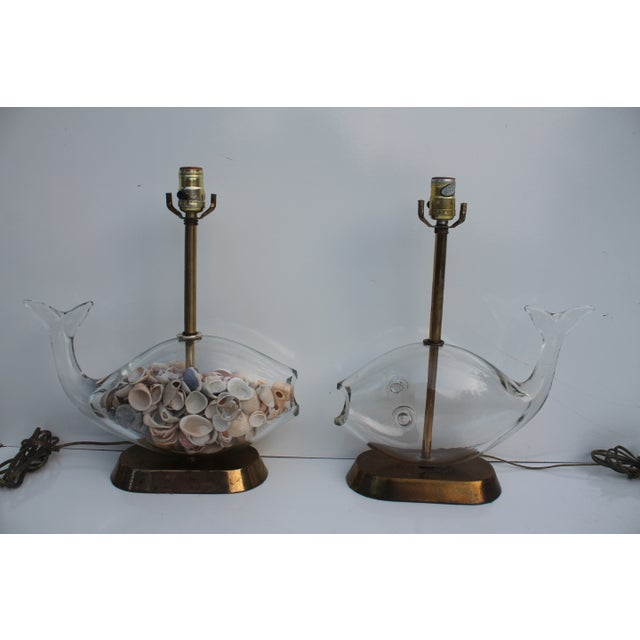 Blencko Art Glass Fish Table Lamps - A Pair - Image 7 of 11