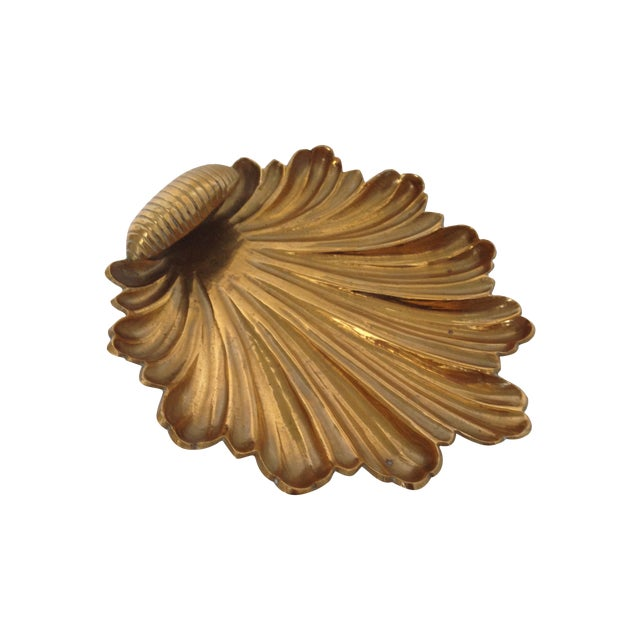 Vintage Brass Shell Dish - Image 1 of 4