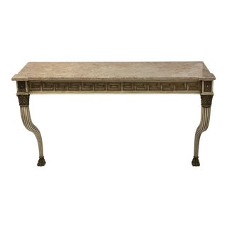 Painted Console With Marble Top For Sale